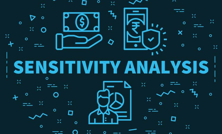 A graphic depicting a Monte Carlo sensitivity analysis