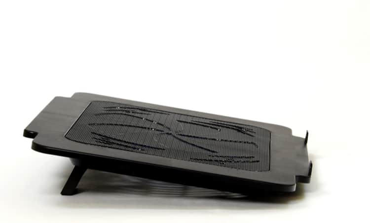 Cooling pads are connected externally to the laptop using USB