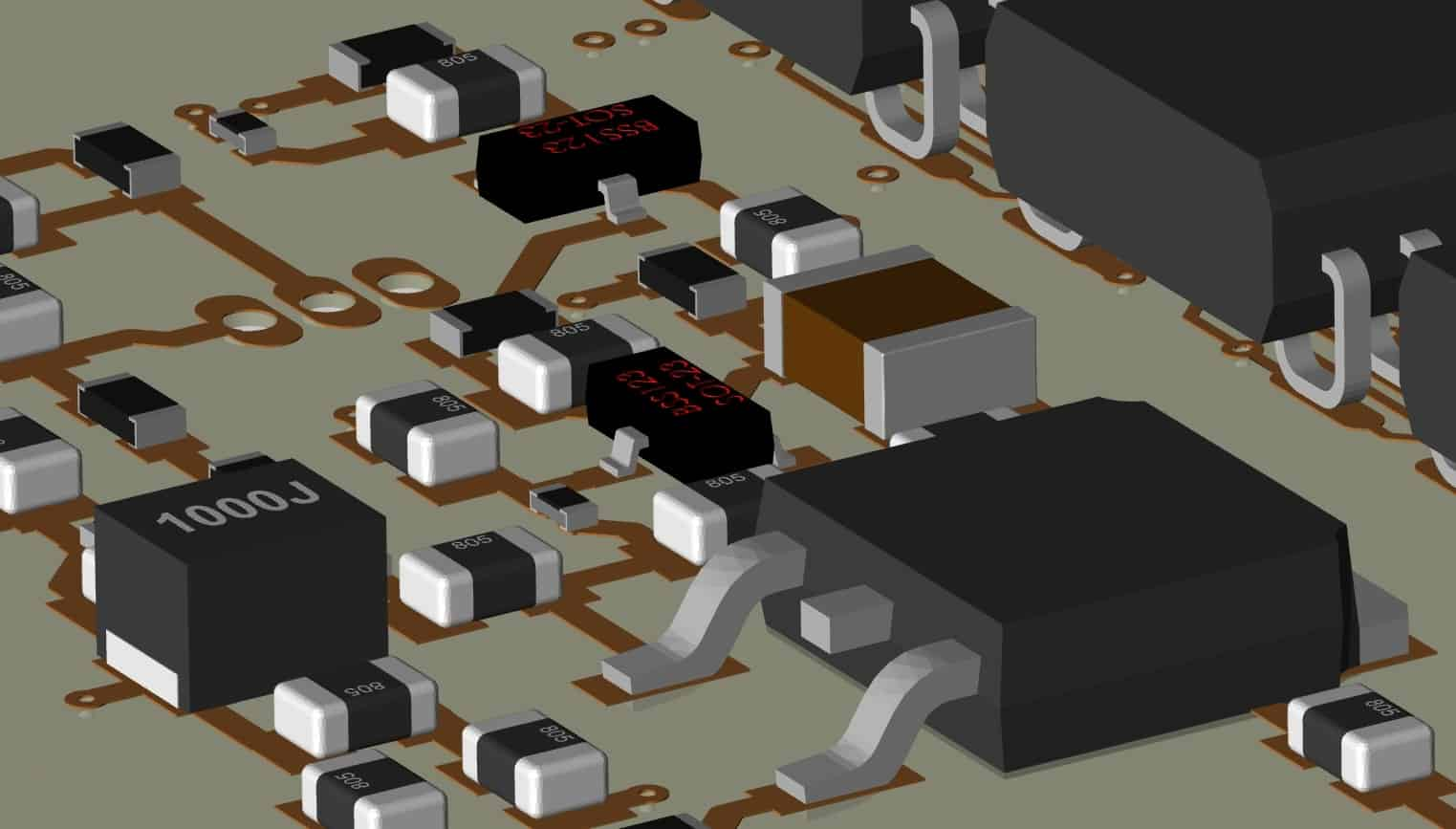 A 3D layout from OrCAD PCB Designer