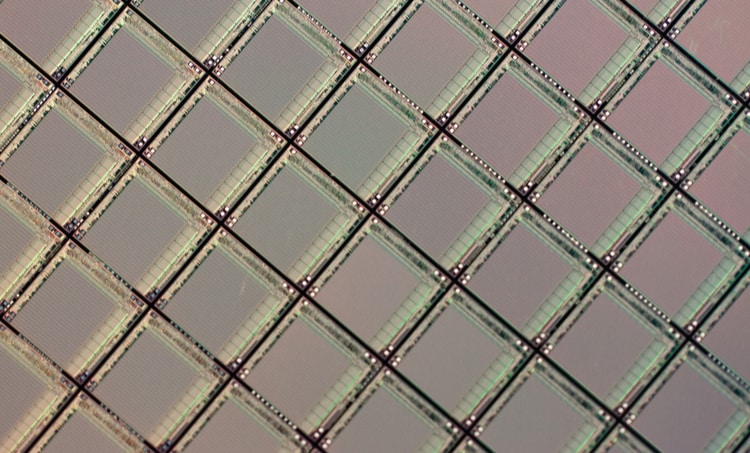 VLSI layout silicon wafer