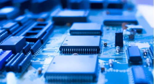Integrated circuits in electronic components.