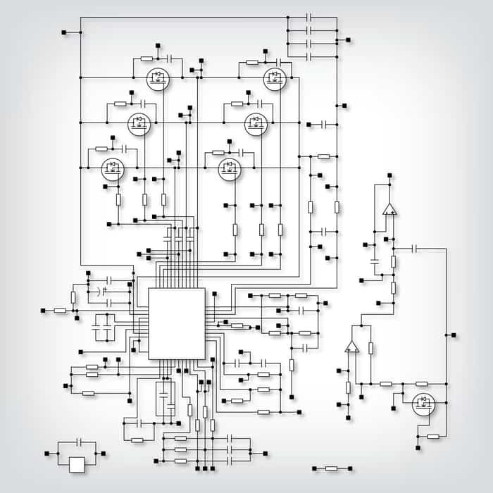 PCB schematic for embedded systems design