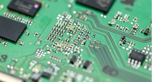 A green embedded systems design PCB