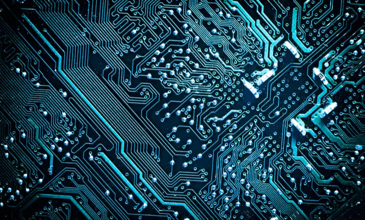 Densely routed circuit traces on a computer motherboard