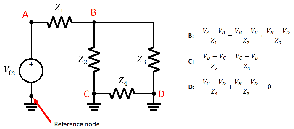 Nodal analysis example