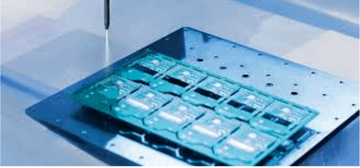 Silicone conformal coating by spraying
