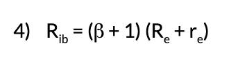 Rib = (β + 1) (Re + re)
