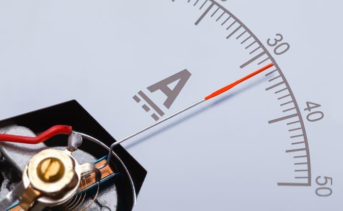 Ammeter measuring power consumption