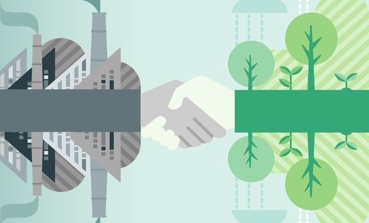 Sustainable manufacturing graphic