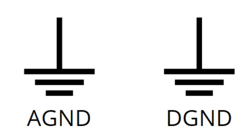 Analog and digital ground symbols