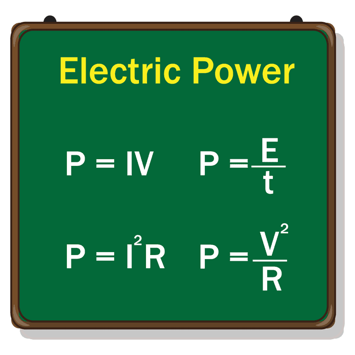 Instantaneous power equation for a DC circuit