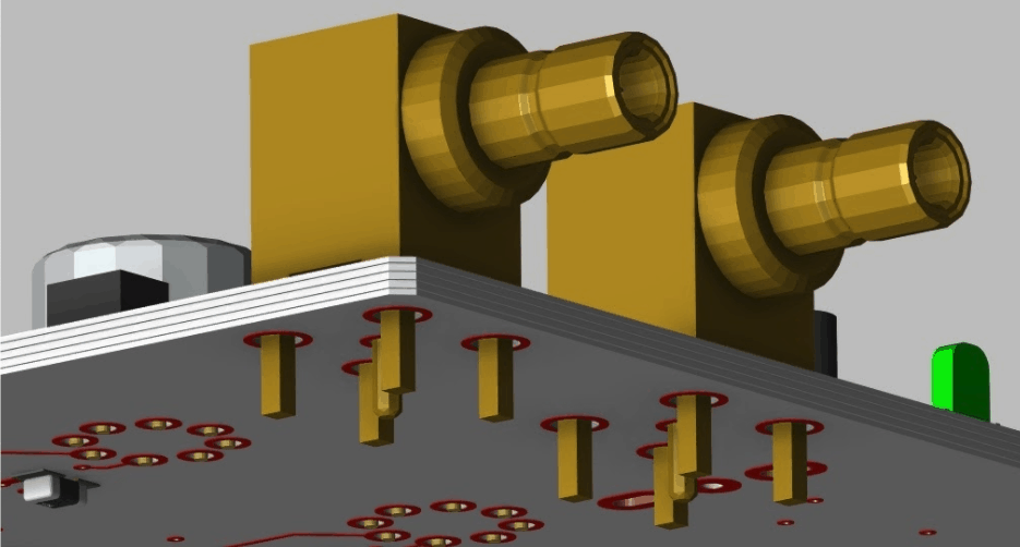 Connectors placed close to the edge of a circuit board