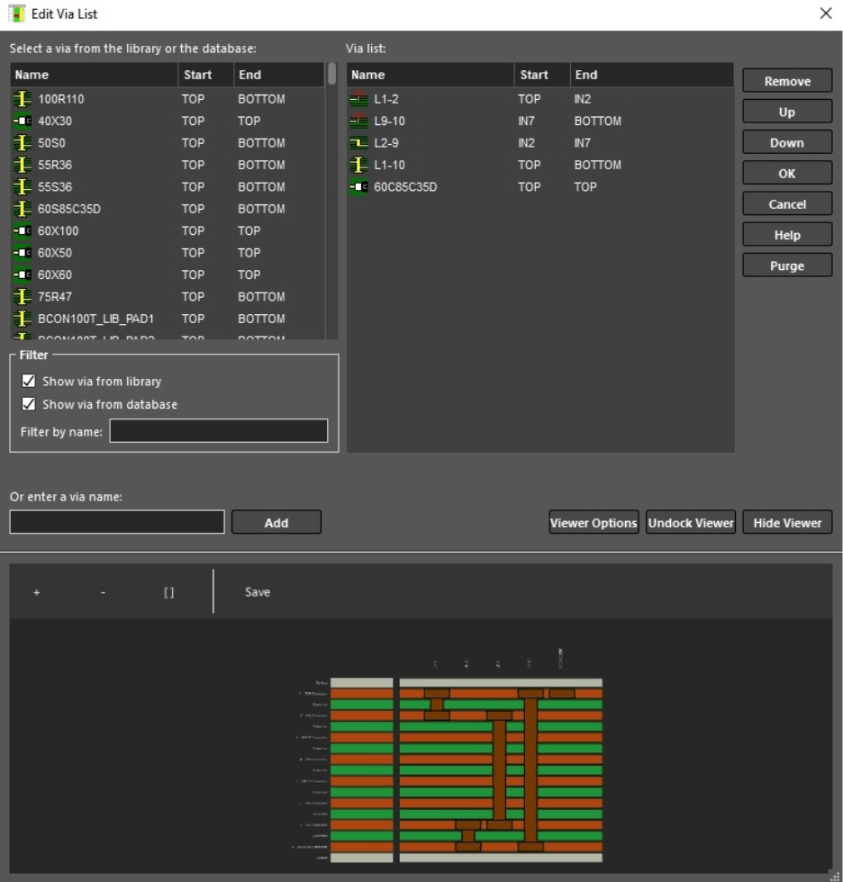 Assigning vias to nets using the Constraint Manager in Cadence's Allegro PCB Editor