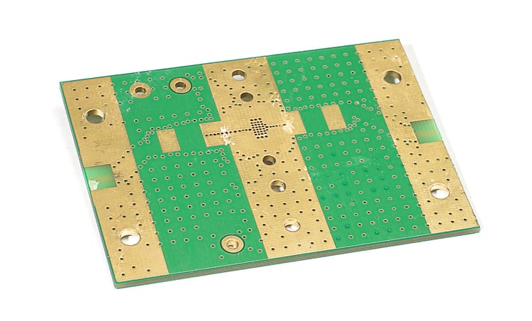 Exposed copper on a PCB