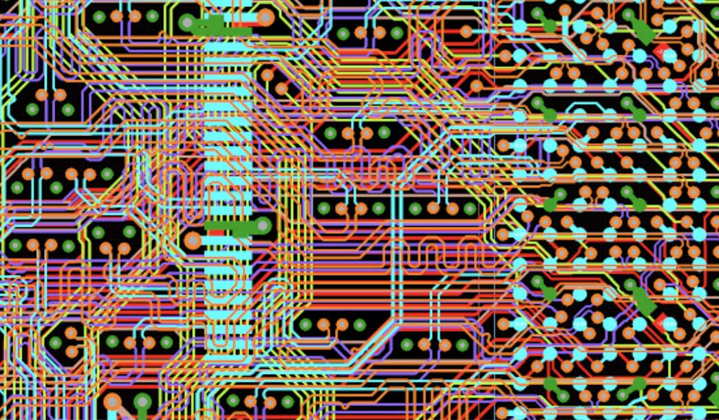 Differential pairs routed on a 12-Layer PCB