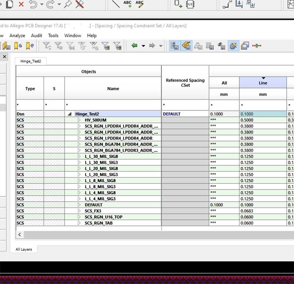 Spacing rules for memory buses in Allegro PCB Designer