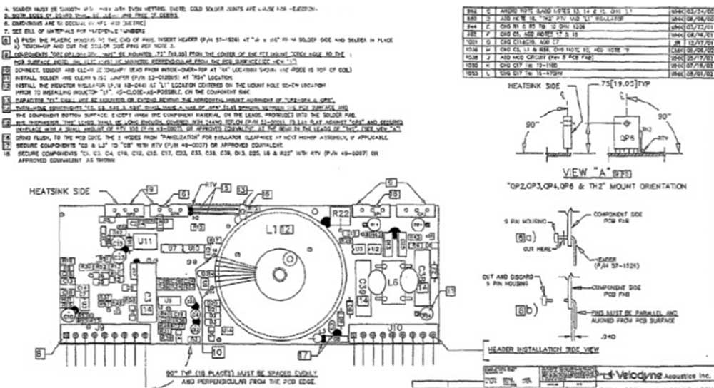 Types of assembly drawings lined next to each other, 2nd-operation drawings
