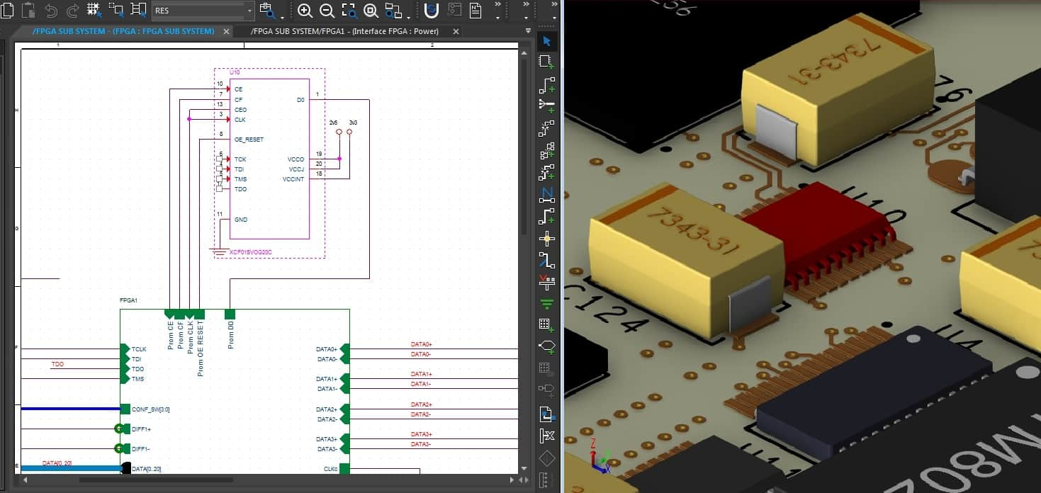 Cross-probing between the schematic and layout in Cadence Allegro's PCB Editor