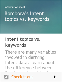 Intent Topics vs Keywords