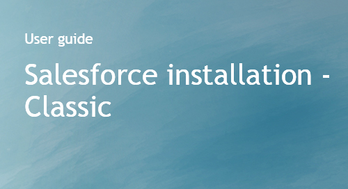 Company Surge® for Salesforce integration guide - Classic edition