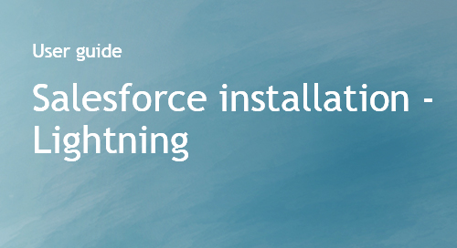Company Surge® for Salesforce integration guide - Lightning edition