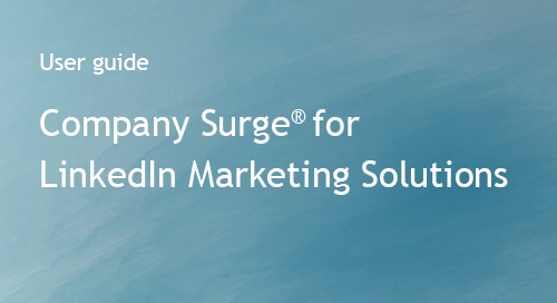 Company Surge® for LinkedIn -- Integration Guide