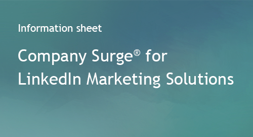 Company Surge® for LinkedIn