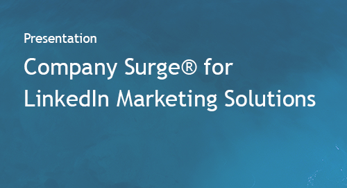 Company Surge® for LinkedIn Marketing Solutions
