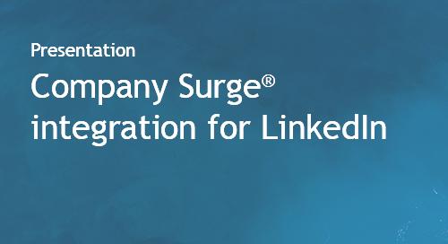 Company Surge® integration for LinkedIn