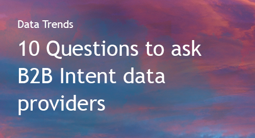 Intent Data Provider Questionnaire