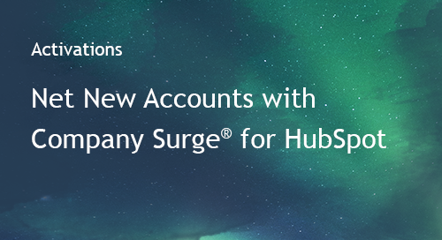 Discover Net New Accounts with Company Surge® for HubSpot