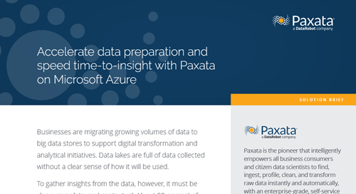 Partner Solution Brief: Paxata and Microsoft Azure