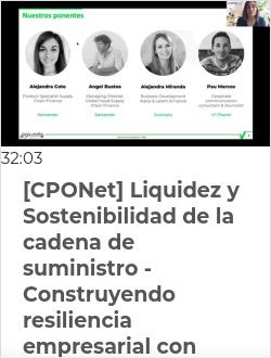[CPONet] Liquidez y Sostenibilidad de la cadena de suministro - Construyendo resiliencia empresarial con Santander