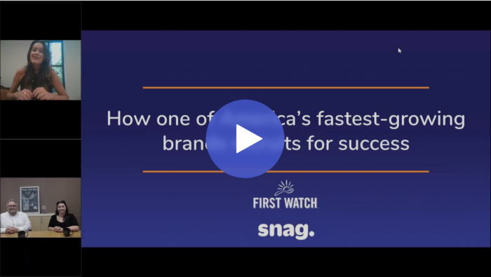 First Watch & Snag Webinar