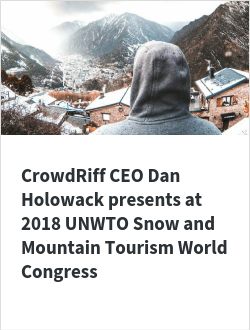 CrowdRiff CEO Dan Holowack presents at 2018 UNWTO Snow and Mountain Tourism World Congress