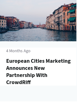 European Cities Marketing Announces New Partnership with CrowdRiff