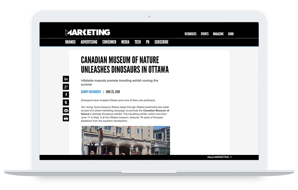 marketing mag _ canadian museum nature promotion