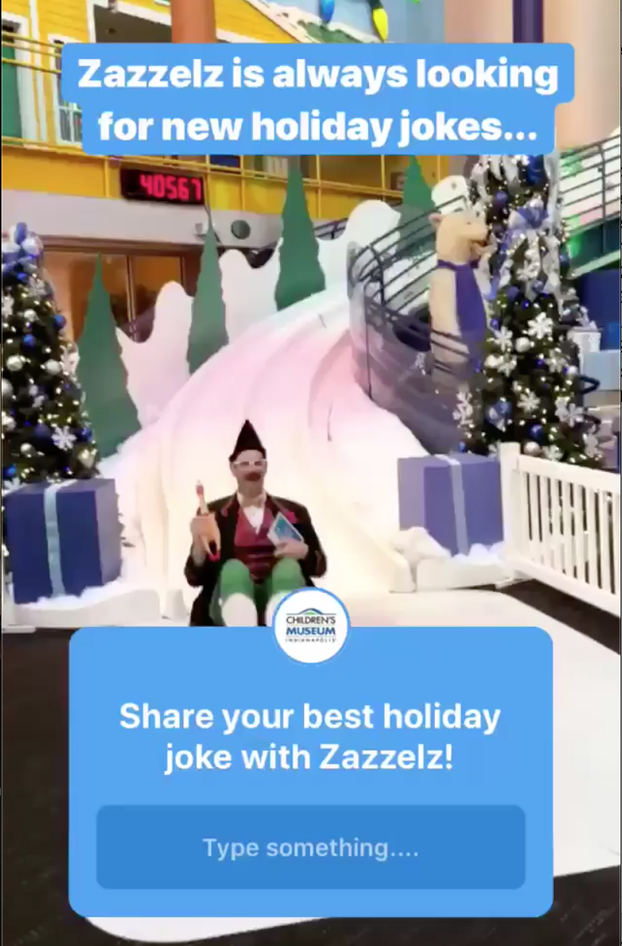 Indy Children's Museum - Instagram Stories questions