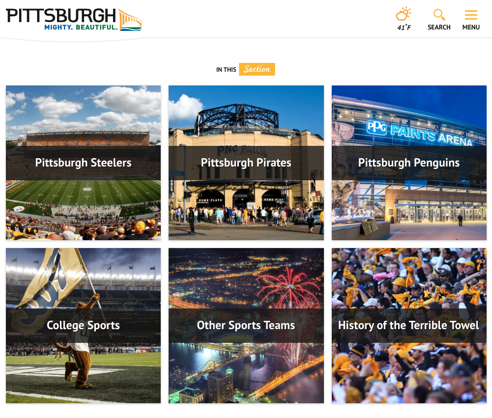 pittsburgh sports fans destination
