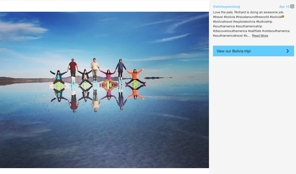 How tour operators are using calls to action on their images