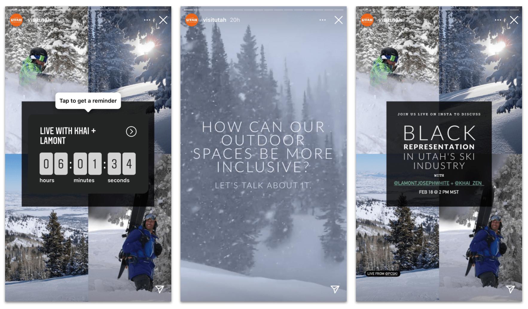 Countdown Sticker Instagram Stories Visit Utah