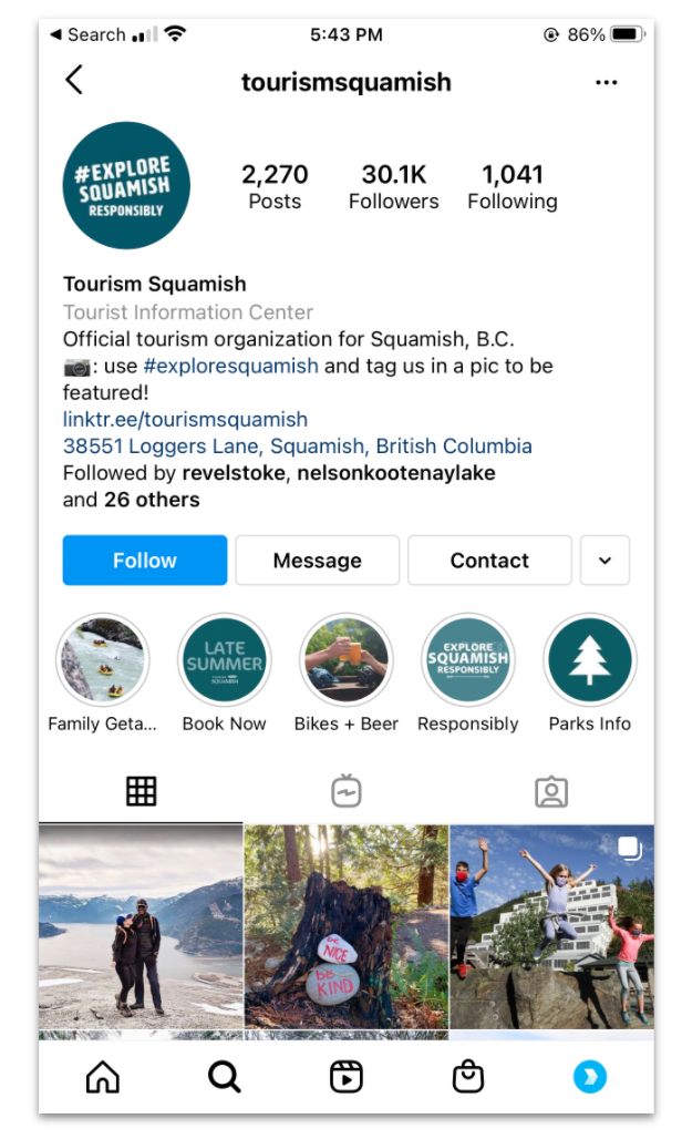 Instagram Highlights Responsible Travel Message