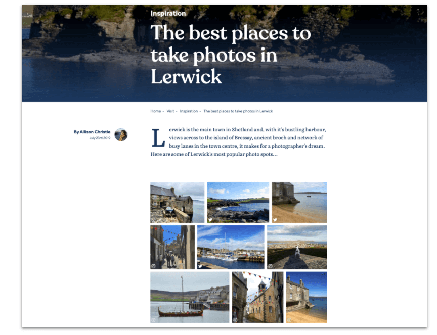 The best places to take photos in Lerwick blog post