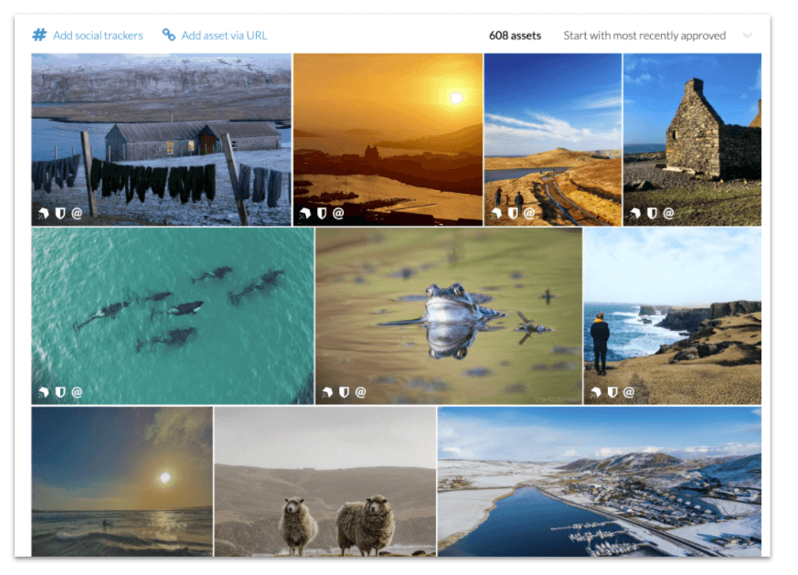 Rights approved photo wall in Promote Shetland's CrowdRiff account