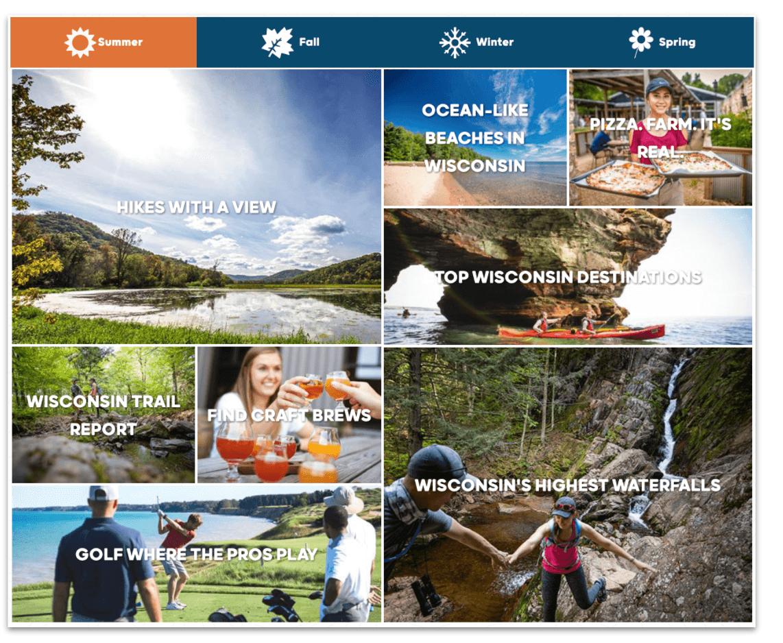 Outdoor experiences regional tourism marketing