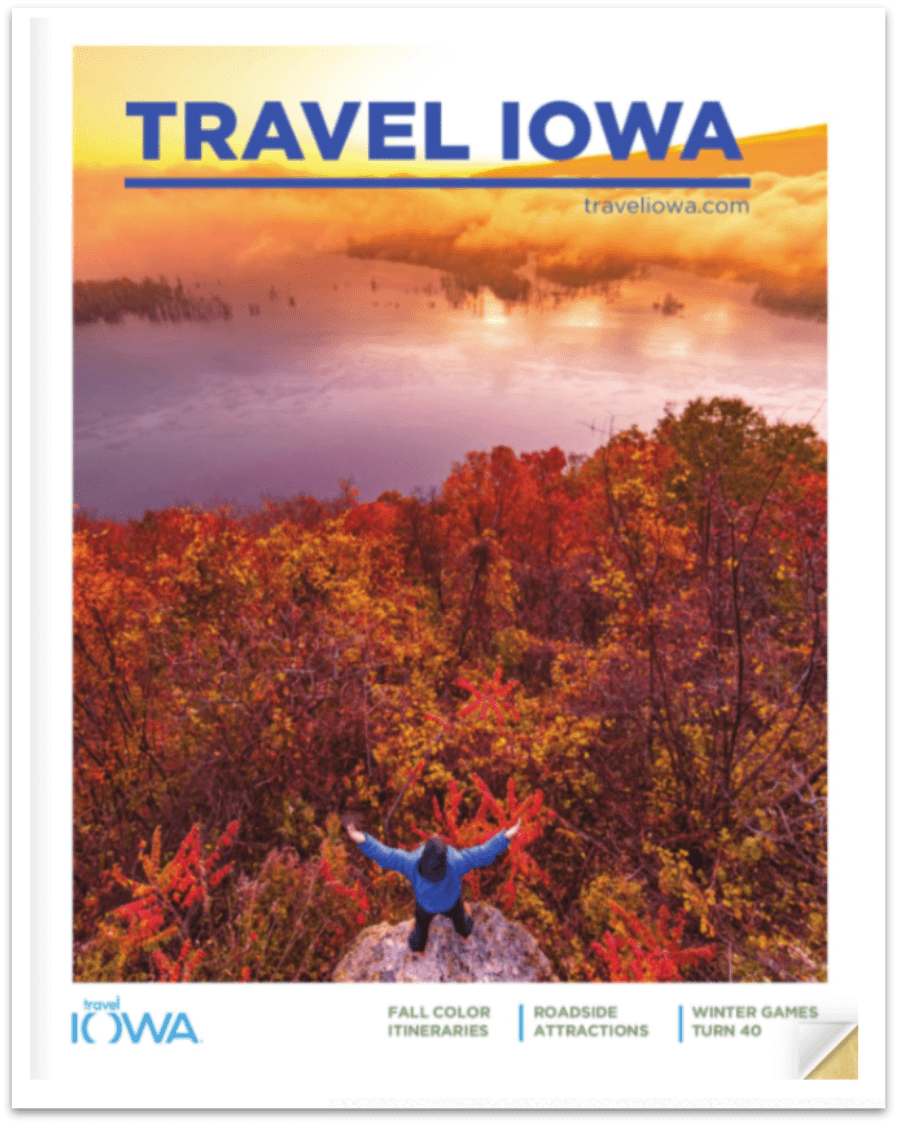 Travel Iowa fall guide cover image user generated content