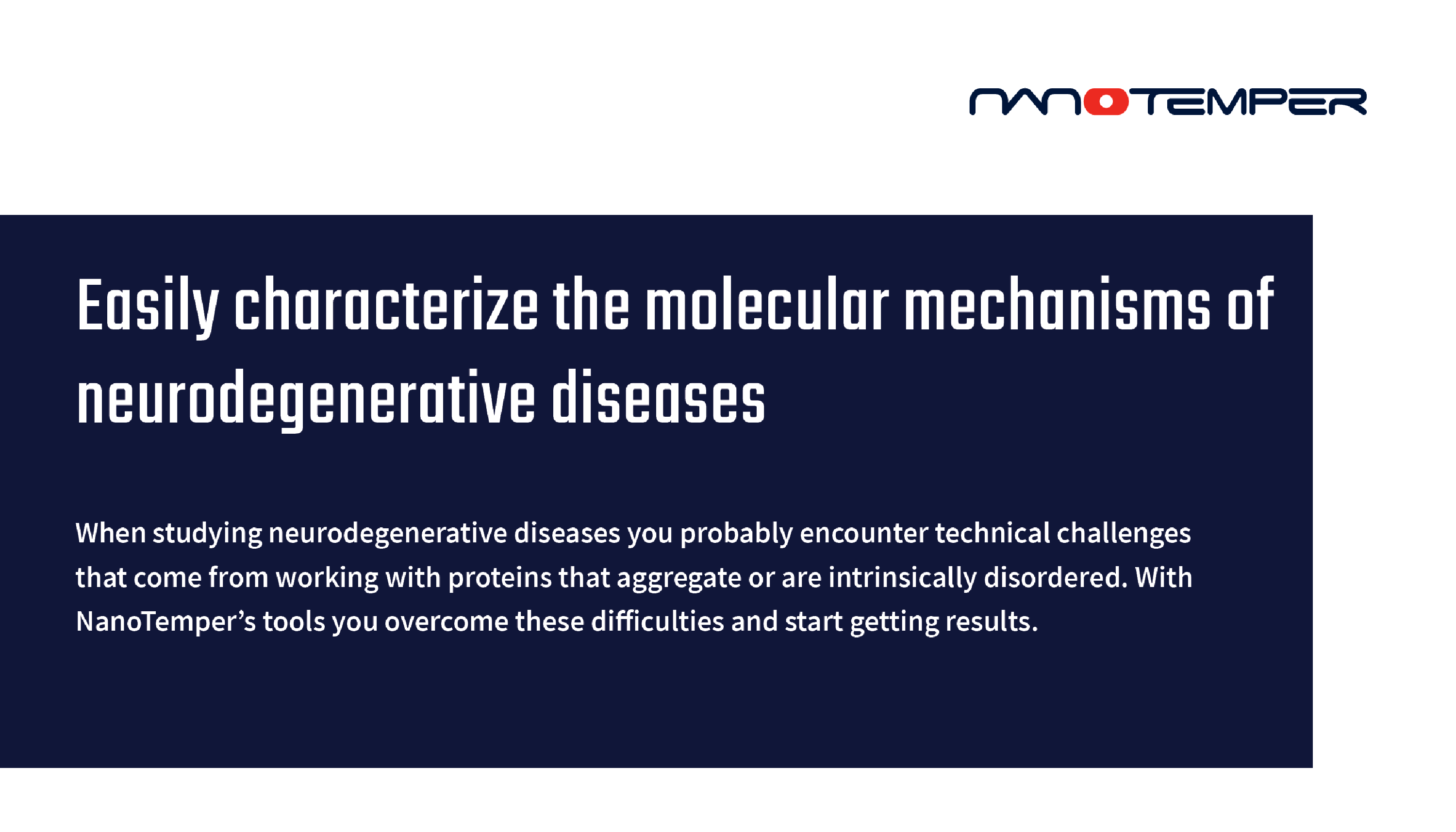 Easily characterize the molecular mechanisms of neurodegenerative diseases