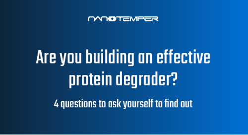 Are you building an effective protein degrader?