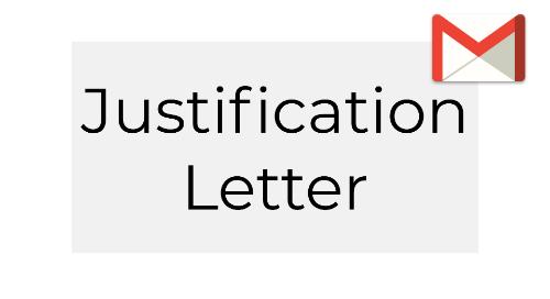 Validate Justification Letter