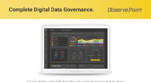 ObservePoint Complete Digital Data Governance Solution